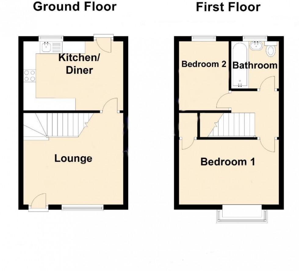 Floorplan for Cygnet Close, Borehamwood