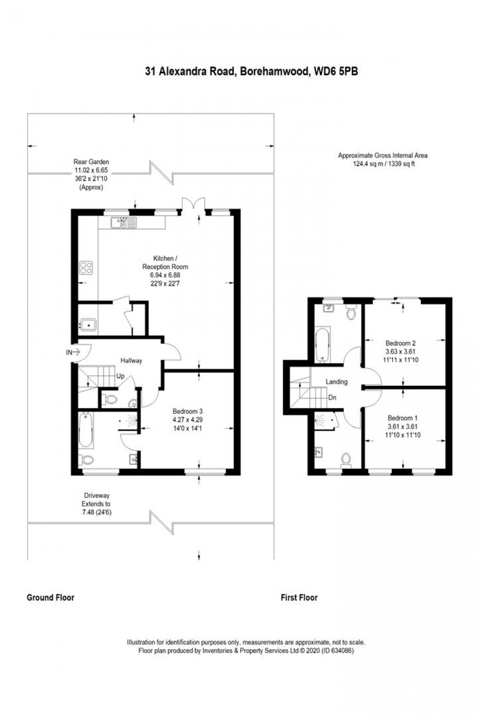 Floorplan for Alexandra Road, Borehamwood