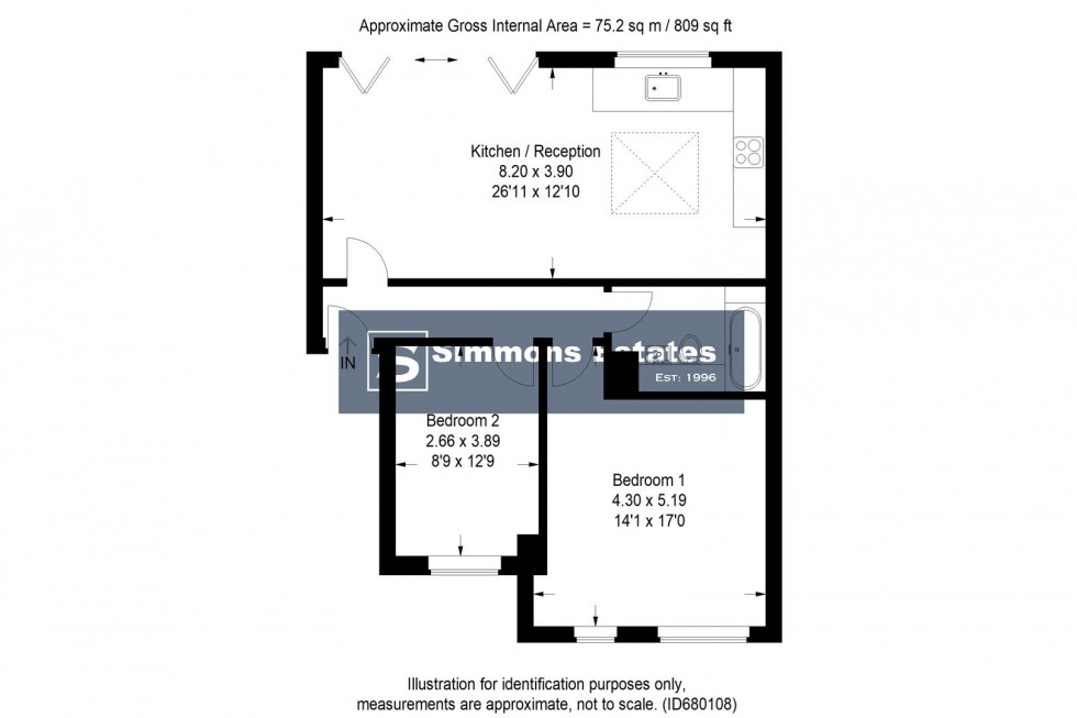 Floorplan for Beech Drive, Borehamwood