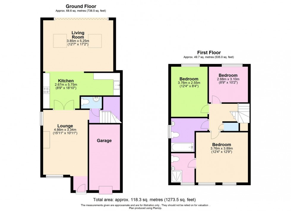 Floorplan for Berwick Road, Borehamwood